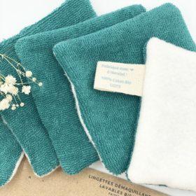 lingettes démaquillantes lavables et reutilisable en coton bio